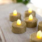 Gold-Glitter-Battery-LED-Tea-Lights