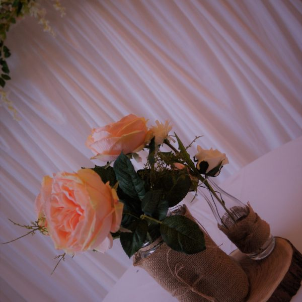 Hessian Themed Cabbage Rose