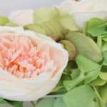 cabbage rose centrepiece