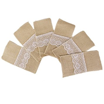 hessian wedding pockets