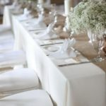 hessian wedding table runner